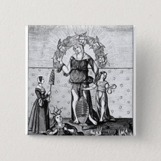 The Image of Dame Astrology with the Three 15 Cm Square Badge
