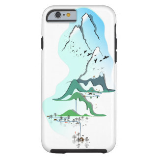 The image of the mountains tough iPhone 6 case