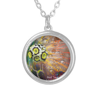 The imagination is a powerful tool in our life silver plated necklace