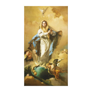 The Immaculate Conception by Giovanni B. Tiepolo Canvas Print