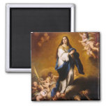 The Immaculate conception Square Magnet