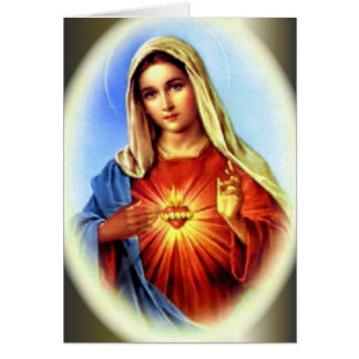 The Immaculate Heart of Blessed Virgin Mary Greeting Card