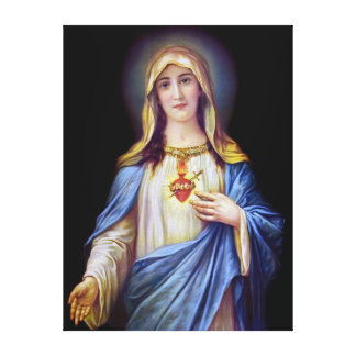 The Immaculate Heart of Mary Stretched Canvas Print