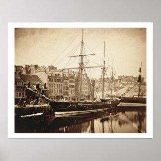 The Imperial Yacht 'La Reine Hortense' at Le Havre Print