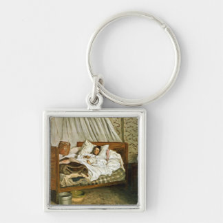 The Improvised Ambulance Silver-Colored Square Key Ring
