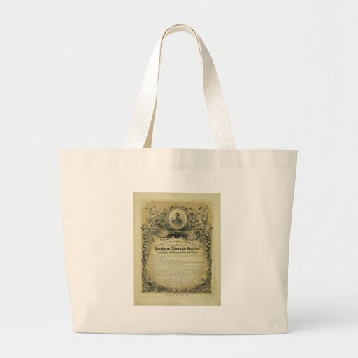 The Inaugural Address of President Abraham Lincoln Canvas Bag