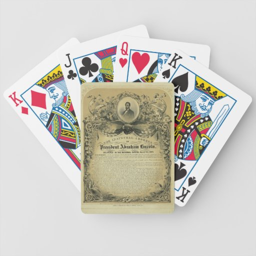 The Inaugural Address of President Abraham Lincoln Bicycle Poker Deck