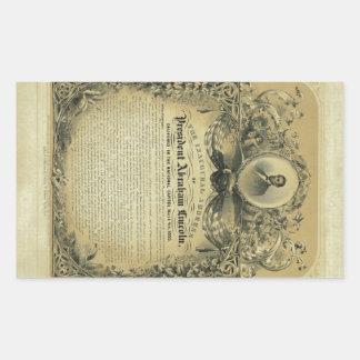The Inaugural Address of President Abraham Lincoln Rectangular Sticker