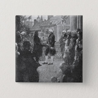The Inauguration 15 Cm Square Badge