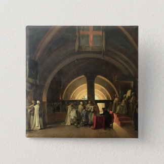 The Inauguration of Jacques de Molay 15 Cm Square Badge