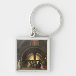 The Inauguration of Jacques de Molay Key Chain
