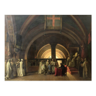 The Inauguration of Jacques de Molay Postcard