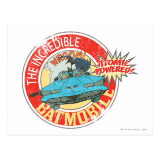 The Incredible Batmobile Icon Postcard