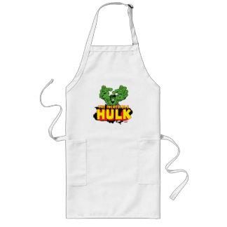 The Incredible Hulk Logo Long Apron