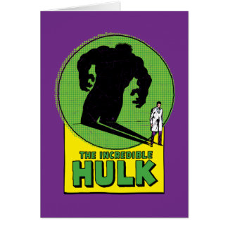 The Incredible Hulk Vintage Shadow Graphic Card