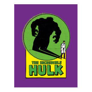 The Incredible Hulk Vintage Shadow Graphic Postcard