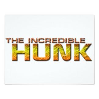 The Incredible Hunk 11 Cm X 14 Cm Invitation Card