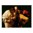 The Incredulity of St. Thomas, 1602-03 Postcard