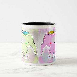The Indian Elephants Two-Tone Coffee Mug