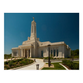 The Indianapolis Indiana LDS Temple Postcard
