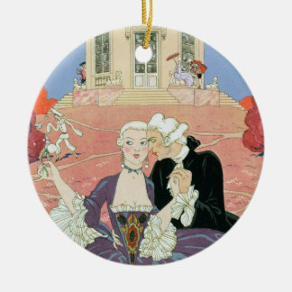 The Indolents,  illustration for 'Fetes Galantes' Ornament