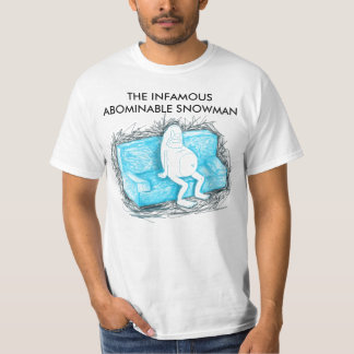 THE INFAMOUS ABOMINABLE SNOWMAN T SHIRT