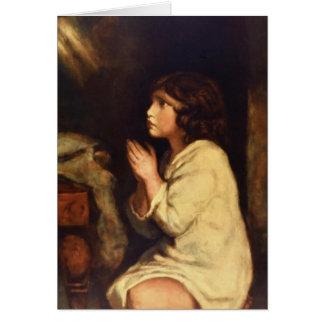 The Infant Samuel at Prayer  by Joshua Reynolds Card