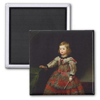 The Infanta Maria Margarita  of Austria Square Magnet