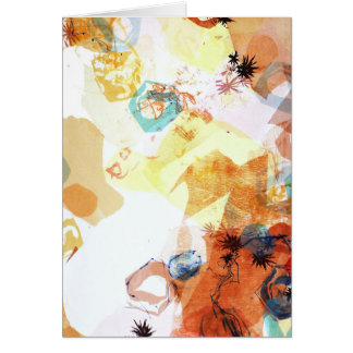 The Infinite Possible Abstract Art rocks shapes Card