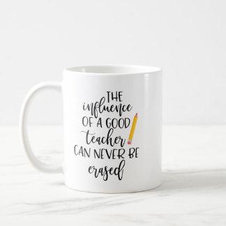 The Influence of a Good Teacher Can Never Be Erase Coffee Mug