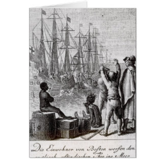 The Inhabitants of Boston Throw Card