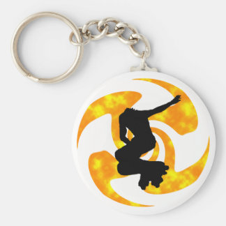THE INLINE SUMMER BASIC ROUND BUTTON KEY RING