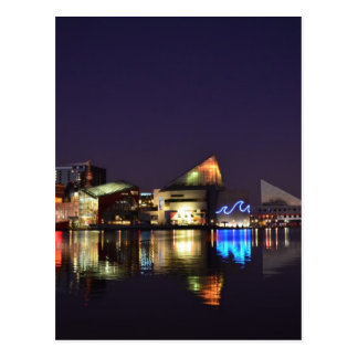 The Inner Harbor of Baltimore at Night Postcard