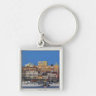 The inner harbour at Victoria British Columbia Silver-Colored Square Key Ring