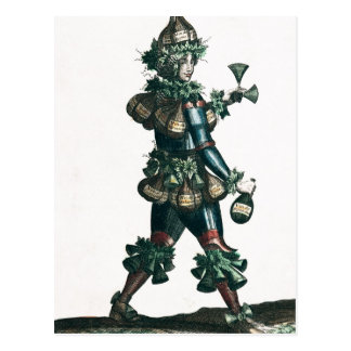 The Innkeeper, allegorical costume design Postcard