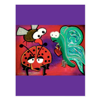 The insect crew postcard