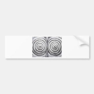 The Insomnia Penguin (odd surrealism) Bumper Sticker