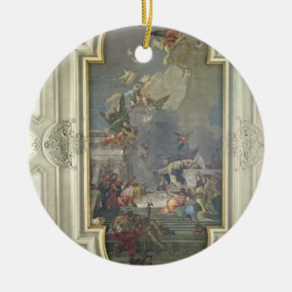 The Institution of the Rosary by St. Dominic (fres Ceramic Ornament