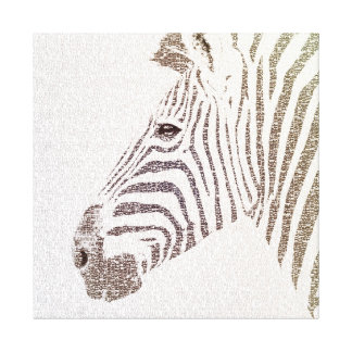 The Intellectual Zebra Canvas Print