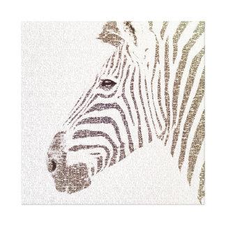 The Intellectual Zebra Canvas Prints
