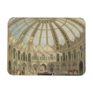 The Interior of the Stables, from 'Views of The Ro Rectangular Photo Magnet