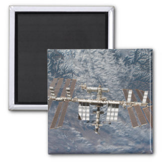 The International Space Station 8 Square Magnet