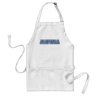 The Internets Is Serious Business Standard Apron