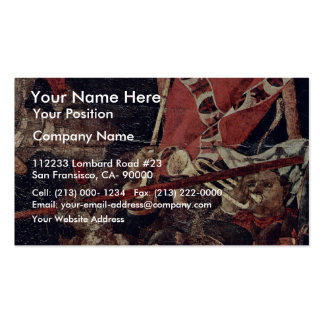 The Intervention Of Micheletto As Cotignola Detail Business Card Template