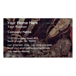 The Intervention Of Micheletto As Cotignola Detail Business Card Templates