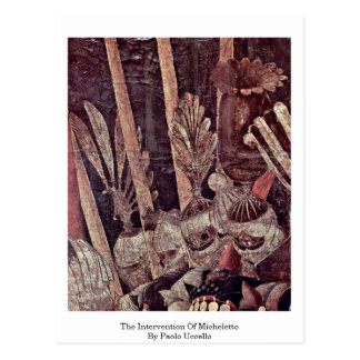 The Intervention Of Micheletto By Paolo Uccello Post Card