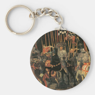 The intervention of Micheletto Cotignola by Paolo Basic Round Button Key Ring