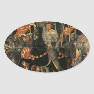 The intervention of Micheletto Cotignola by Paolo Oval Sticker