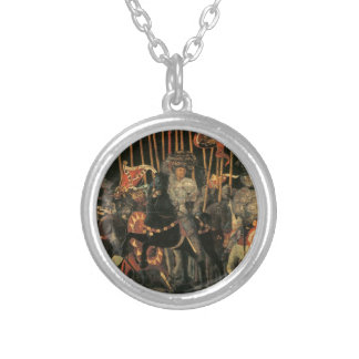 The intervention of Micheletto Cotignola by Paolo Round Pendant Necklace