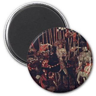 The Intervention Of Micheletto Da Cotignola 6 Cm Round Magnet